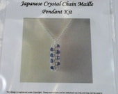 Japanese Crystal Chain Maille Pendant Kit with Instructions