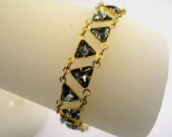 Egyptian Elegance Bracelet in Black Diamond Grey Swarovski Crystal