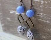 Blue China - Vintage Earrings