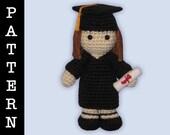 Crochet Pattern - Amigurumi Graduate Girl
