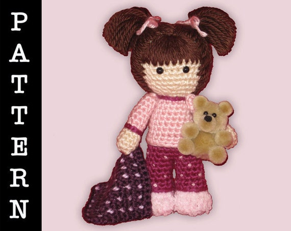 Crochet Pattern Amigurumi Ready for Bed Doll