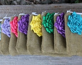 Rainbow Bridesmaid Clutches, Bridesmaid Gifts, Bridal Party Gifts, Burlap Clutches, Burlap Bags, Custom Wedding Gifts, Maid of Honor Gift