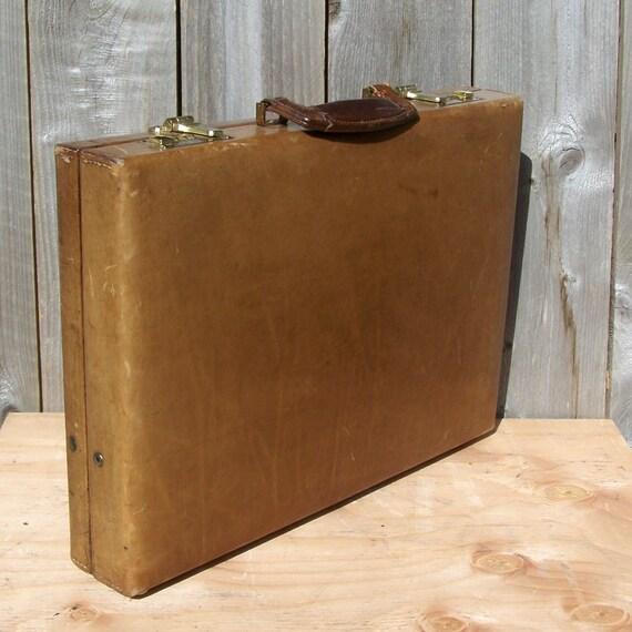 Vintage Caribou Hide Briefcase with Combination Lock