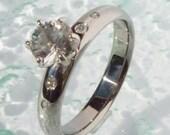Titanium Solitare Engagement Ring - e2
