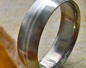 Titanium Platinum Wedding Ring - p1