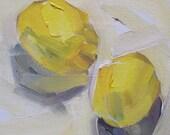 Original painting 'Lemons' by Linda Hunt 6X6