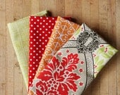 4 Assorted Washable Picnic Napkins, spring summer palate