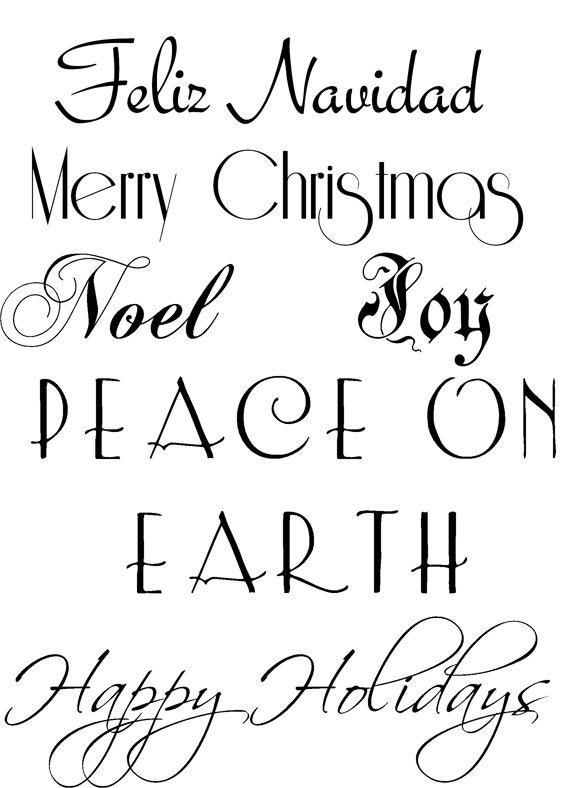 Items Similar To 6 Christmas Sayings Clip Art