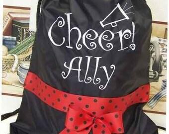 CHEER Cinch Bag Backpack  Cheerleader preppy tote colors