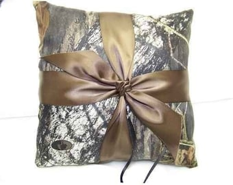 Mossy Oak Breakup SATIN Bridal Bride Ring Bearer Pillow Camouflage Wedding All accessories