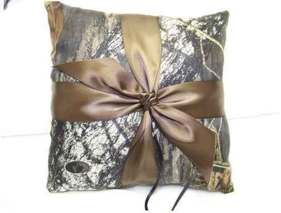 Mossy Oak Breakup SATIN Bridal Bride Ring Bearer Pillow Camouflage Wedding All accessories