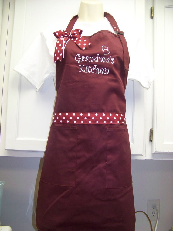 Grandma's Kitchen  Grandmother Apron  Can be personalized also