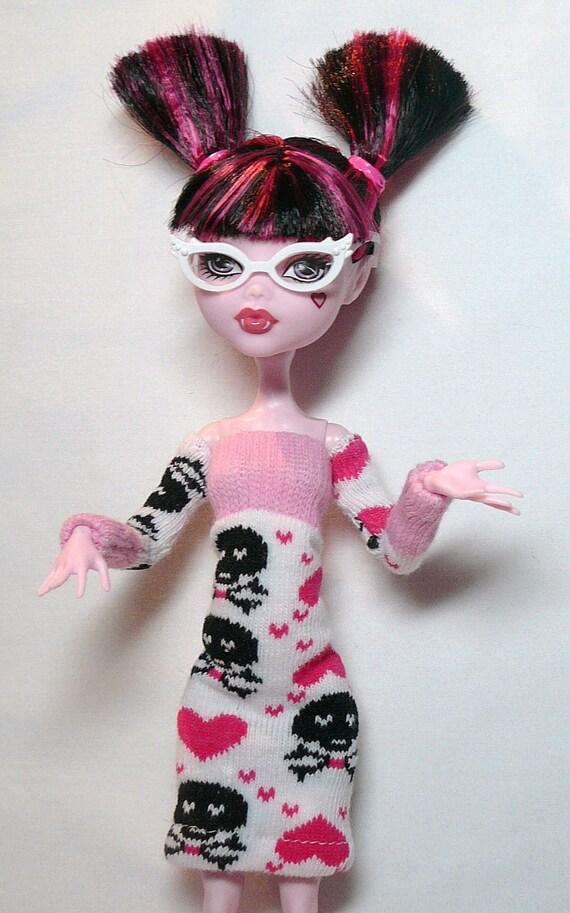 Monster High Doll Skulls and Hearts Mini Dress