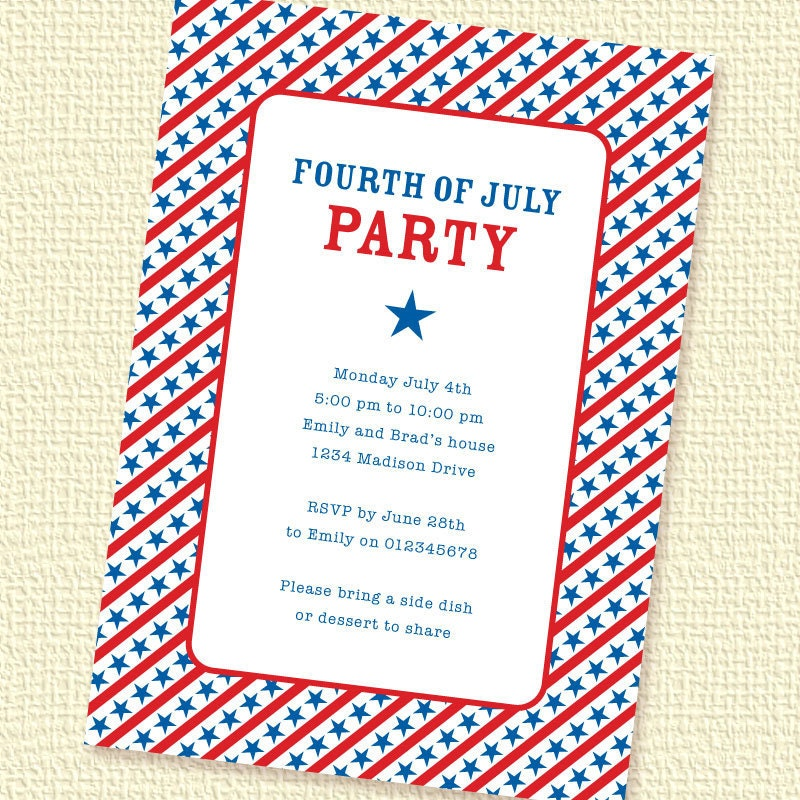 4Th Of July Invitation Templates for beautiful invitation sample