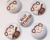 Cheeky Monkey Magnets for Best Friends - UK seller