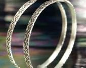 Hoop Earrings- Zigzag One
