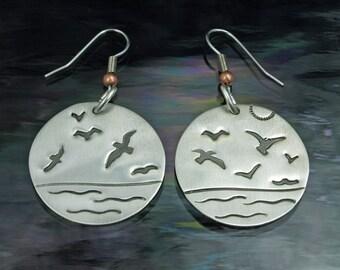 Dangle Earrings- Seabirds One