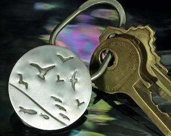 Key Ring- Seabirds, round