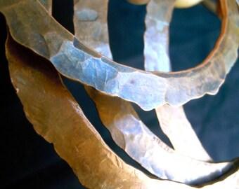 Disc Copper bangle bracelet
