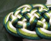 Hair Barrette - Shades of Green