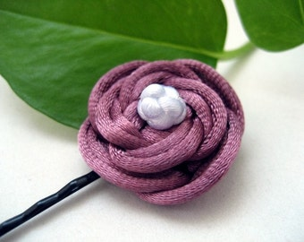 Rose Bobby Pin - Pink, White