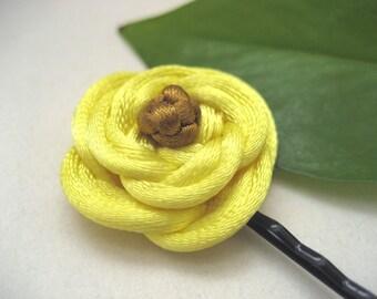 Rose Bobby Pin - Yellow, Gold