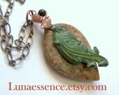 Egyptian Luna Unakite Gemstone Pendant