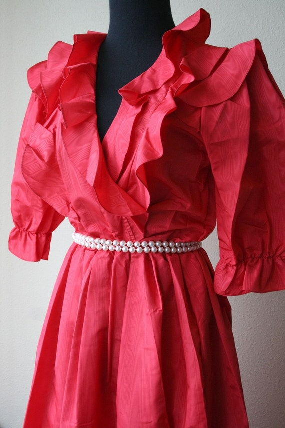 Barbara BarbaraTaffeta sensation vintage 80s dress, marked size 5/6