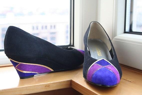 Gorgeous Magdesian's California wedge heels, size 9N
