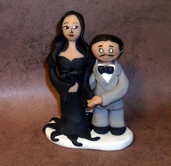 addams family wedding cake topper items similar to family wedding cake topper on etsy 10540