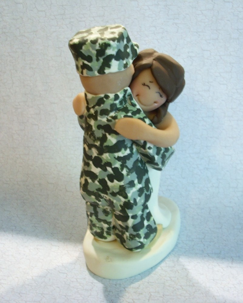 military wedding cake toppers just married acu wedding cake topper by gingerbabies 17372