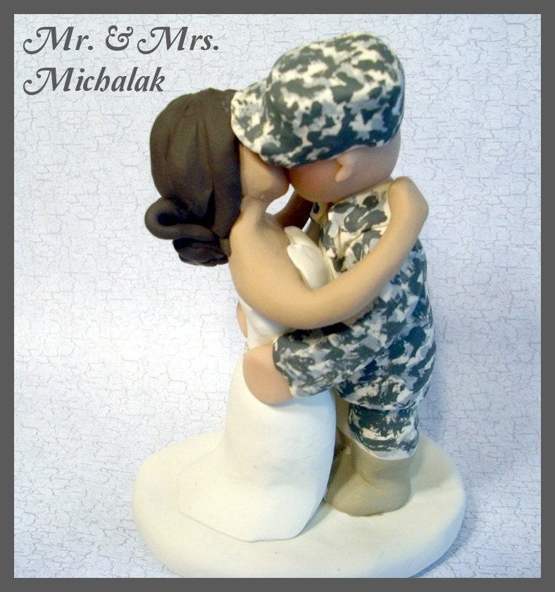 military wedding cake toppers army wedding cake topper by gingerbabies on etsy 17374