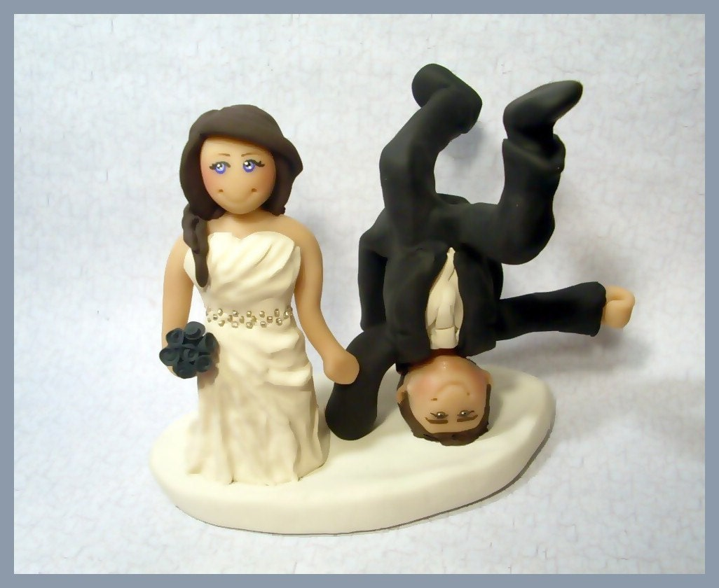 Cake Topper Custom Wedding Cake Topper By Gingerbabies On Etsy