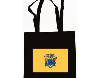New Jersey State Flag Tote Bag Available in 3 Colors