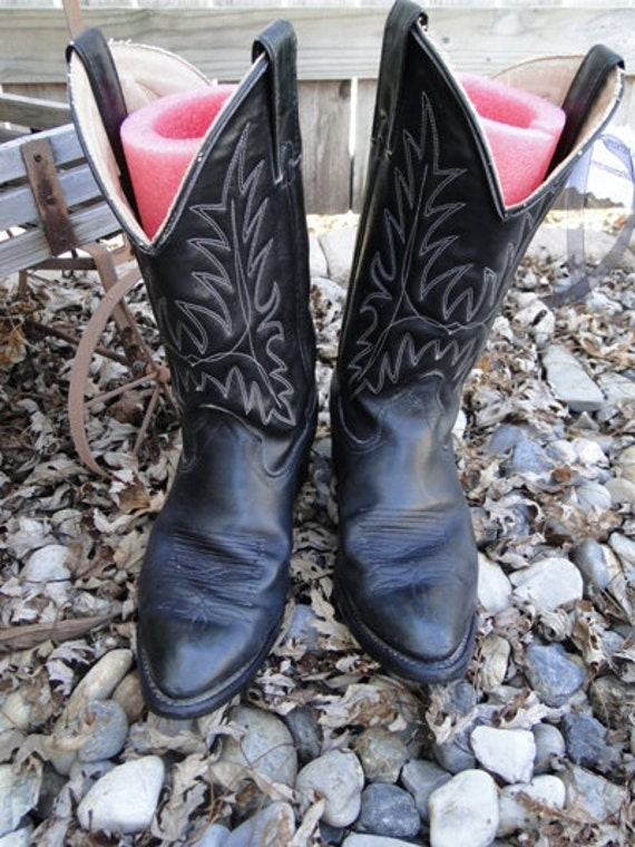 Vintage Black Wrangler Cowboy Boots - Great Condition