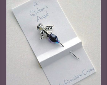 Purple Angel Pin - A Quilter's Angel - Decorative Sewing Pin - Scrapbooking Pin - Cardmaking Pin