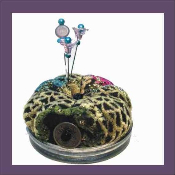 Silk Pincushion - Decorative Sewing Pins - Sparkly Devore