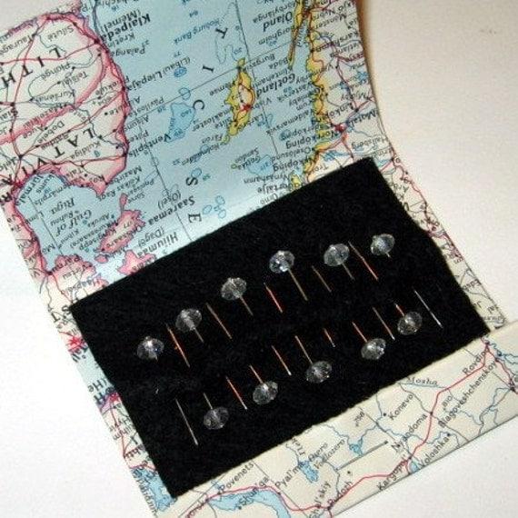 Crystal Push Pins - Map Pins - Tack Board Pins