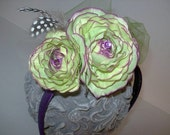 Headband-Purple and Lime Fantasy... is that special headband for your beautiful day, photoshoot, parties and/or just because...