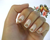 For ANN Only - Beautiful Vintage Style Chic Two Little Love Birds Nail Art Waterslide Water Slide Miniture Decals - bd-003