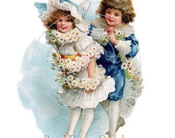 De-VC-9 Vintage Shabby Little Charm Children 12 Chic Decals