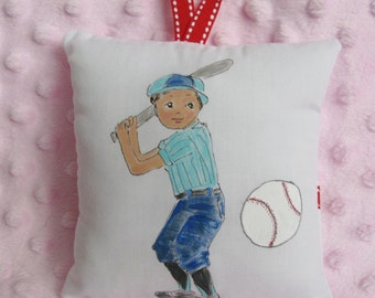 Baseball Tooth Fairy Pillow - Personalize with name Free