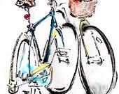 "BICYCLE ART  - Original Painting  -- ""Return to You"""