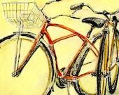 """BICYCLE ART  - Original Painting  -- """"Forward"""""""