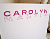 Personalized Bold Note Cards- A2sized flat card set of 10