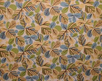 Moda MOMO Freebird Leaves Fabric in Vanilla