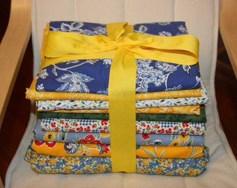 Blue and Yellow Fabric Collection