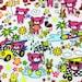 Kawaii Anime Fabric Brand New Teddy Adventure in Powder Pink, scant 1 yard