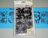 Stampology Autumn Leaves Clear Cling Block Stamps Set One 4 stamps