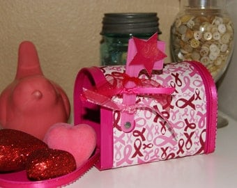 Pink Ribbon Awareness Mailbox  Survivor  Great Gift